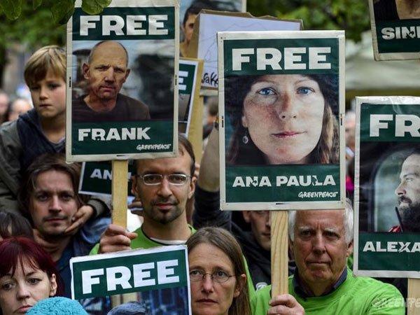 СК начал амнистировать активистов Greenpeace