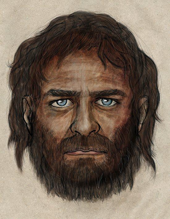 Древние европейцы были смуглые и голубоглазые