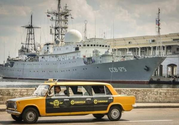 Военный корабль России прибыл на Кубу на фоне разговоров о вторжении в Крым