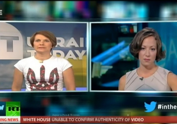 Ukraine Today в прямом эфире затроллила Russia Today
