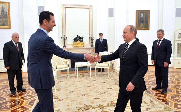 Фото дня: Асад приехал в Москву, чтобы поблагодарить Путна за авиаудары