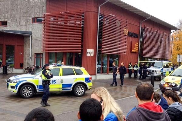 В Швеции мужчина в маске зарубил мечом учителя и двух учеников
