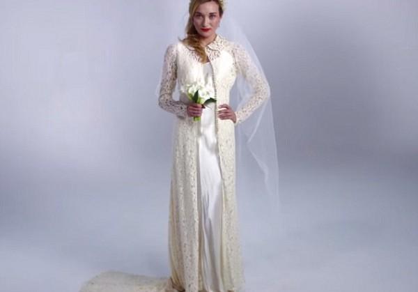 100 лет эволюции свадебного платья за три минуты. Видео