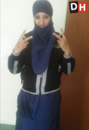 Hasna Aitboulahcen, 26, the cousin of Abdelhamid Abaaoud, the alleged mastermind behind the ISIS Paris atrocities Credit La DH/Les Sports Agreed fee 200 euro on use. NO INTERNET. Supplied by Eric Guidicelli, Directeur artistique, egui@dh.be, Tel : +32 474 77 77 24, Fax : +32 2 211 28 70, Groupe de presse s.a. I.P.M., Boulevard Emile Jacqmain, 127, 1000 Bruxelles