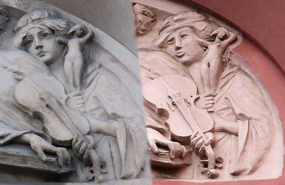 Реставрация петербургского фасада превратила нимфу в «степную бабу»