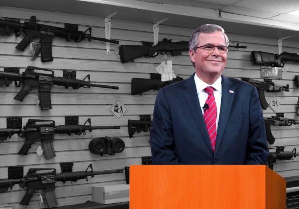«Это Америка». Как в твиттере потешаются над именным пистолетом Джеба Буша