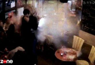 В сети появилось видео самоподрыва смертника в кафе Парижа