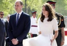 «Момент Мэрилин Монро». Белое платье Кейт Миддлтон взлетело во время визита в Индию