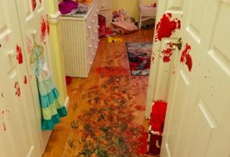 «Всё шло хорошо». Дети разгромили комнату за семь минут без родителей
