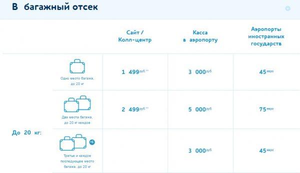 Правила перевозки багажа и ручной клади в авиакомпании Победа
