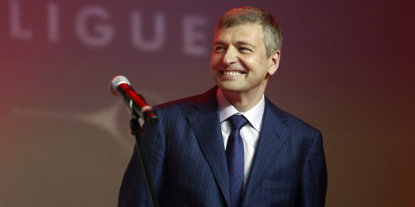 Monaco's football club president Dmitriy Rybolovlev smiles as he delivers a speech to announce the arrival of football player Radamel Falcao during a ceremony to celebrate the end of the 2012-2013 season, on May 31, 2013 in Monaco. Monaco's billionaire Russian owner Dmitry Rybolovlev announced on May 31, 2013 the signature of Colombia forward Radamel Falcao from Atletico Madrid in a deal believed to be worth around 60 million euros ($77 million). AFP PHOTO / VALERY HACHE (Photo credit should read VALERY HACHE/AFP/Getty Images)