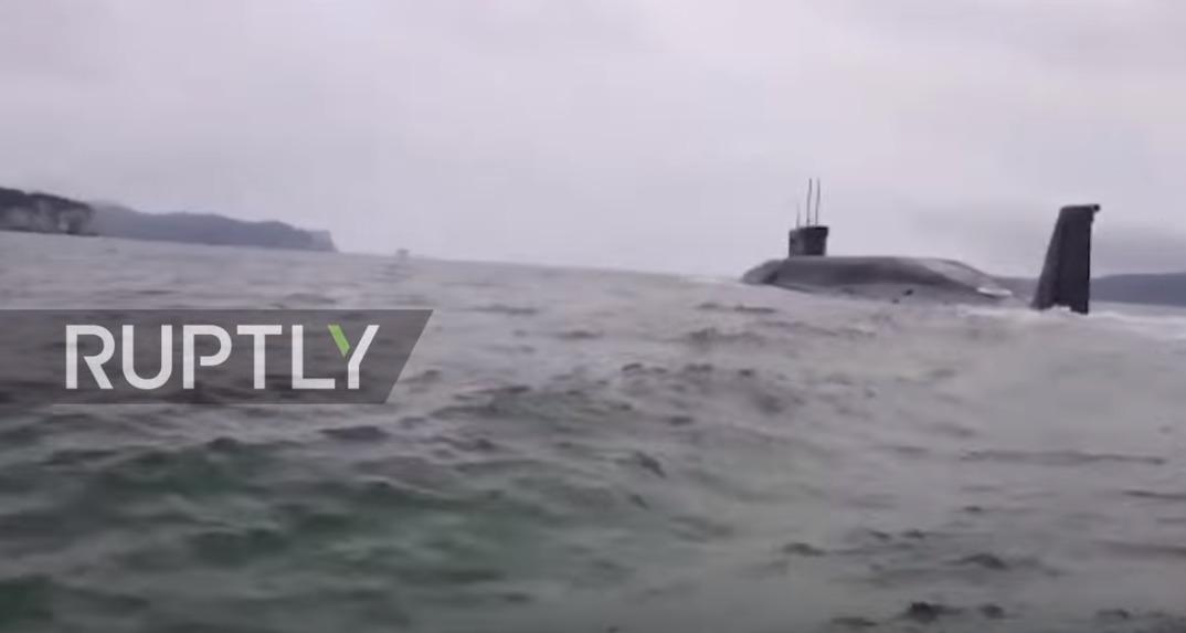поймали подводную лодку