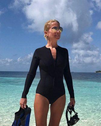 Svetlana Zakharova during her recent tropical getaway