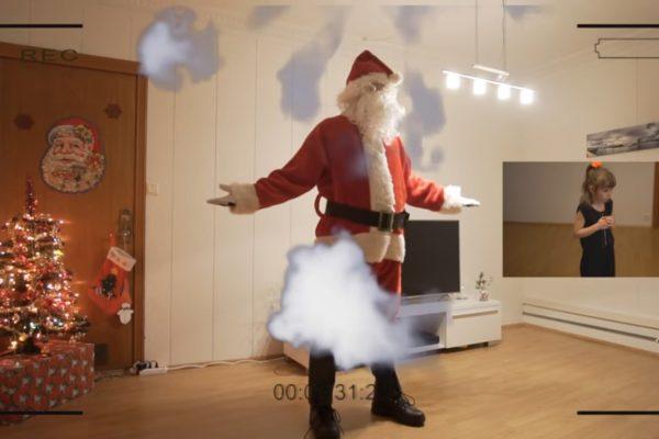 Блогер при помощи спецэффектов обосновал дочери существование Санта-Клауса