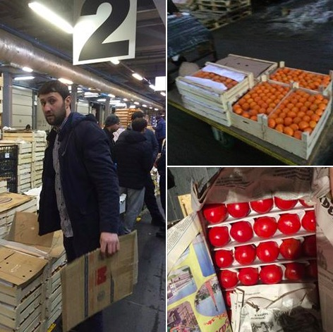 Намосковском рынке узбек отдал два ящика фруктов неизлечимо больным детям