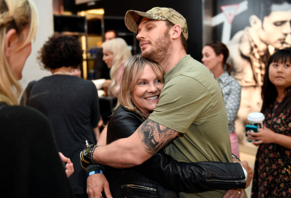 TORONTO, CANADA - SEPTEMBER 06: Tom Hardy and Lindy King attends the Guess Portrait Studio during 2014 Toronto International Film Festival on September 6, 2014 in Toronto, Canada. (Photo by Aaron Harris/WireImage)