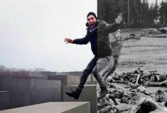 Проект о неуместности веселых селфи на фоне мемориала жертв Холокоста восхитил пользователей сети