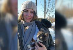 Котёнка Тишку, застрявшего в пустом гараже в Омске, спасла женщина с Канарских островов