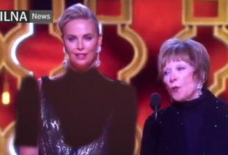 Иранское телевидение прикрыло чересчур откровенное платье Шарлиз Терон на «Оскаре». Но вышло не очень