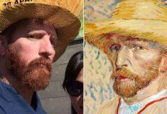 Парень оделся как Ван Гог, и от желающих сделать селфи с ним не было отбоя