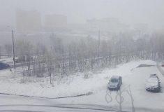 В Мурманске выпал снег накануне летнего солнцестояния, но это нормально