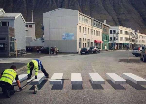 Как сделать иллюзию дорог