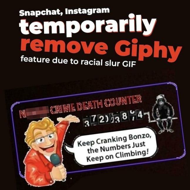 Почему Инстаграм  иSnapchat отказался отгифок— Расистский скандал