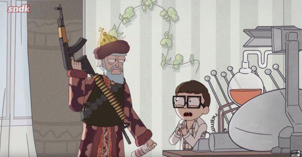 Если бы «Рика и Морти» снимали в России. Сыендук  показал свою версию мультика, с Хоттабычем и чёрным юмором