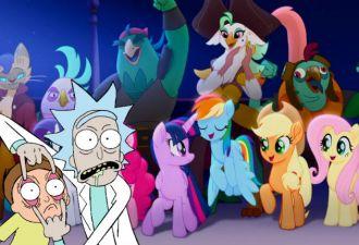 Рик и Морти попали в мир My Little Pony. Главный вопрос: кто их туда пустил?