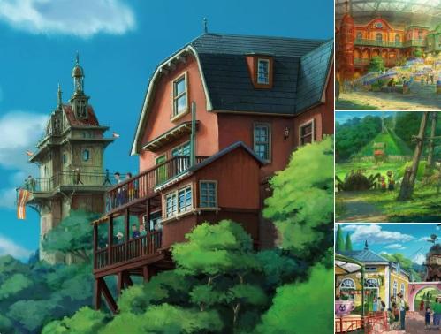 Студия Ghibli показала парк развлечений помотивам мультипликационных фильмов Миядзаки