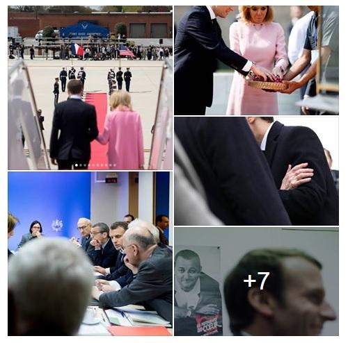 Части тела. В инстаграме президента Франции Макрона много странных фото (но наверное, так и задумано)