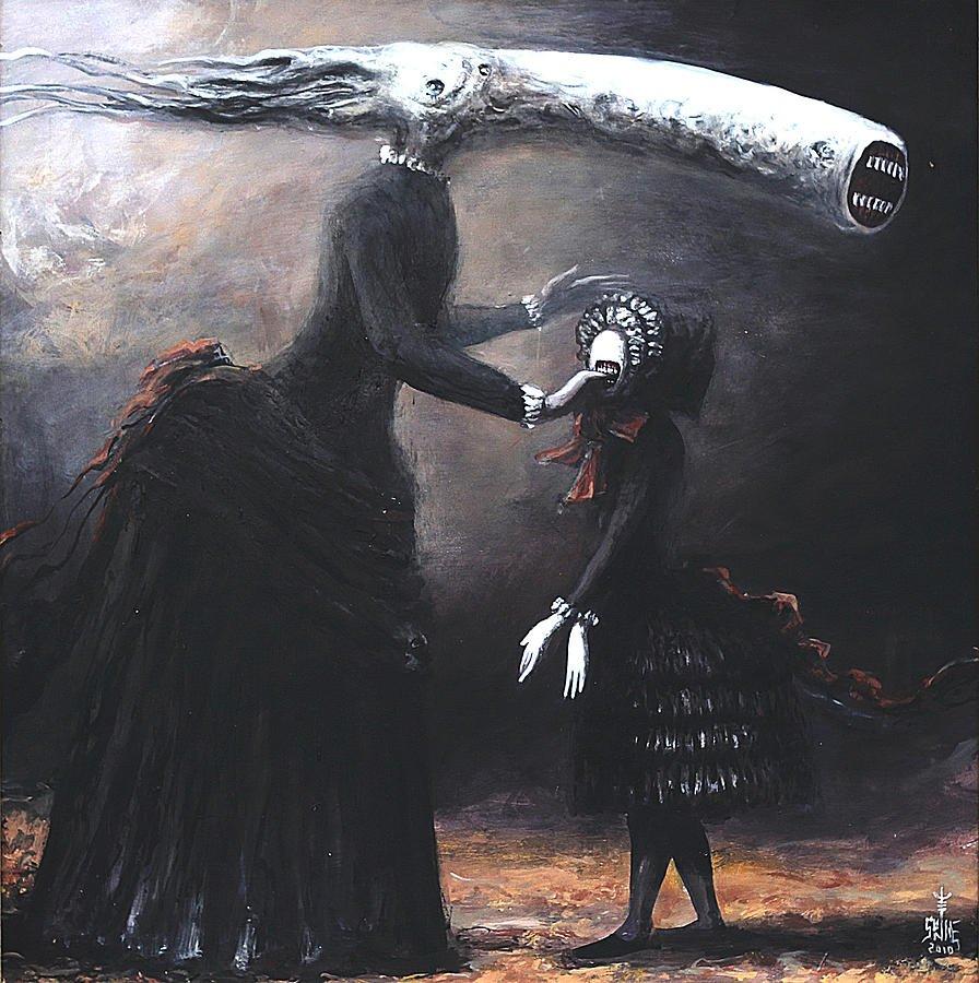 Картины, которые не стоит смотреть на ночь. Художник-сюрреалист Серж Сунне рисует людей так, будто они из ада