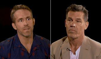 Райан Рейнольдс и Джош Бролин пять минут оскорбляли друг друга, глядя в глаза. Получилось смешно