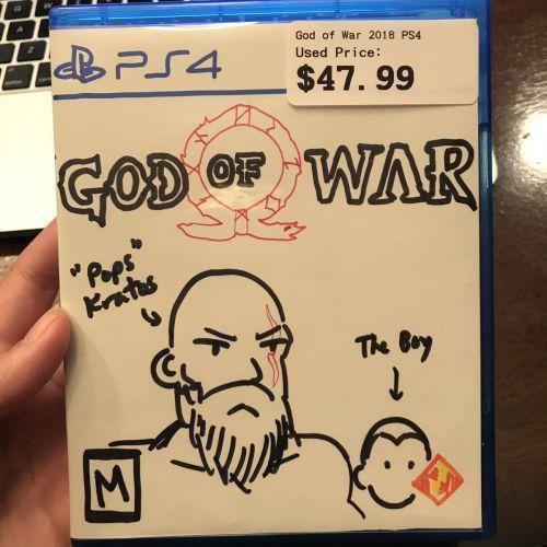 Кратос, только забавный. Продавцы от руки нарисовали обложку God Of War так, что растрогали даже разработчиков