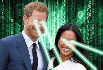 Странная мимика принца Гарри и Меган Маркл заставила подумать, что их заменили роботами. И это близко к правде