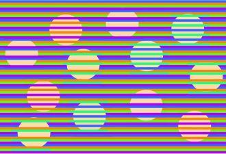 Новая оптическая иллюзия превращает скучные круги в разноцветные конфетти. Это волшебство доступно каждому