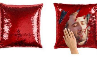Подарок с Ником Кейджем или сюрприз из ада? Девушка получила подушку с любимым актёром и лишилась сна