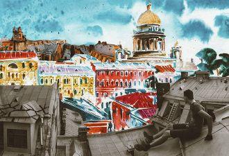 Руферы залезли на крышу офиса «ВКонтакте», чтобы «выразить недовольство». Пришлось улепётывать от охраны