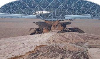Уплывающая красота. Российские стадионы начали разрушаться ещё до конца чемпионата мира
