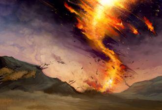 Огненный торнадо возник на пепелище в Англии и поднялся в небо. Видео о портале в ад из нашей реальности