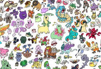 Художница собрала всех покемонов в одной мегакартине. Сможете найти на рисунке любимого монстра?