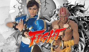Парни в образе Street Fighter 2 победили на мировом косплей-фесте. Их номер не отличишь от сцены из файтинга