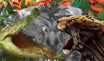 Ягуар хитростью победил огромного крокодила в воде. Да, большие кисы на такое способны, когда есть за кого