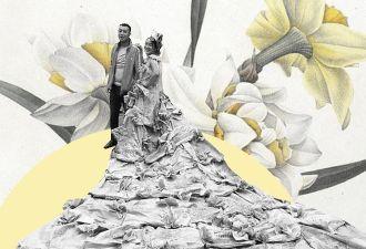 Китаянка от скуки шьёт странные платья из подручных материалов. И на этот раз это оказались цементные мешки