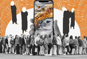 Очереди за iPhone XS и XS Max в России стали палаточными лагерями. Но полиция атмосферой не прониклась