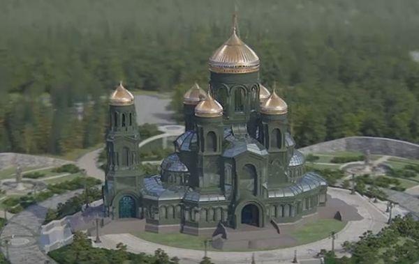 """Шойгу строит """"главный военный храм России"""". Он будет зелёный"""
