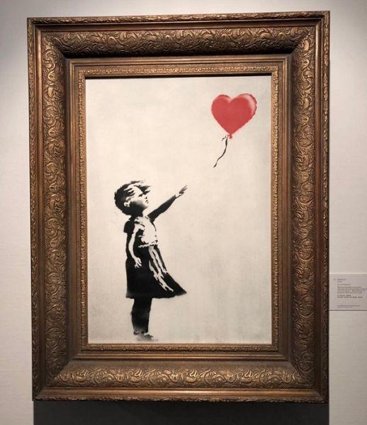 Картинки по запросу девочка с шаром картина сотбис