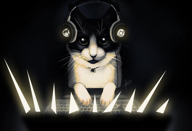 Крутые рисунки с котом геймером