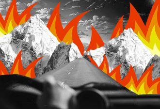 Русская речь в аду. Мама и дочь попали в пожар в Калифорнии и записали ролик оттуда — с родными комментариями