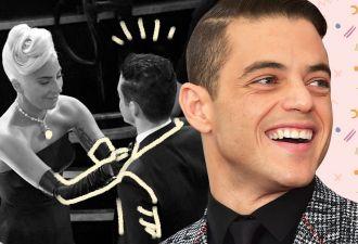 Рами Малек заявился на «Оскар» в косой бабочке и заставил селебов понервничать. Не спешил, а так модно